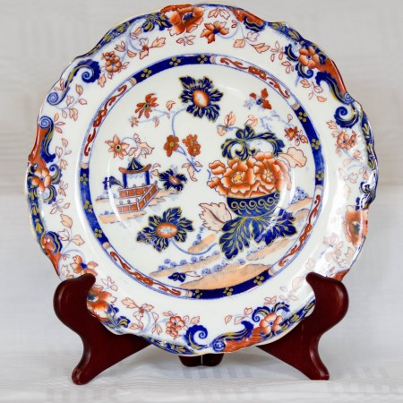 "3. Minton Earthenware ""Amhurst Japan"" Pattern Plate."