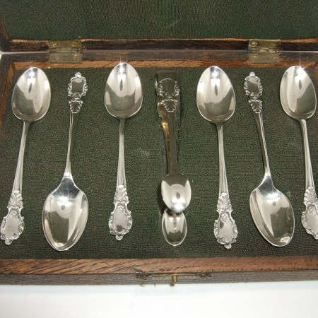 Antique silver spoons