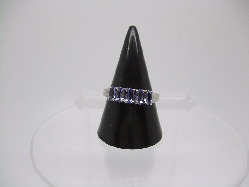 Tanzanite half eternity