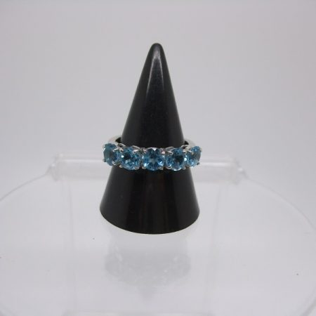 Blue Topaz half eternity