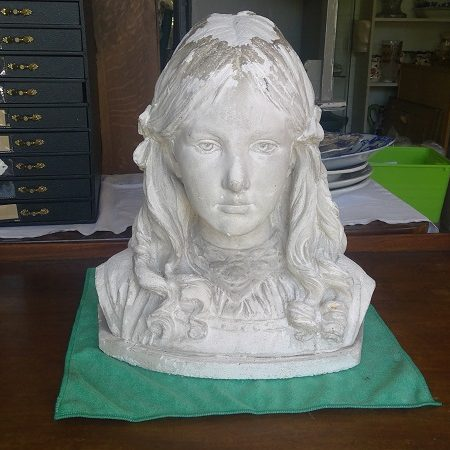 Bust Statue of Young Girl Helen