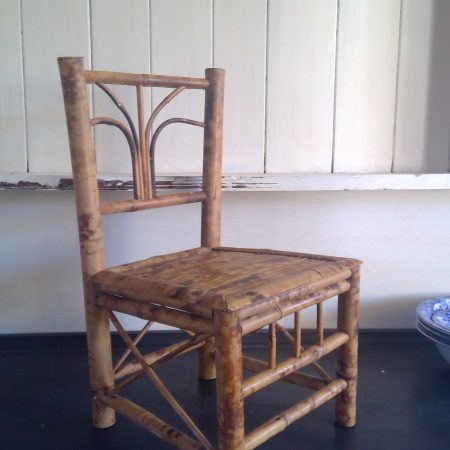 Vintage Child's Bamboo Chair