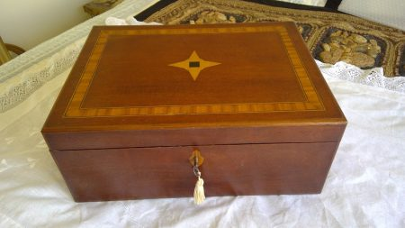 Antique Inlaid Writing Slope